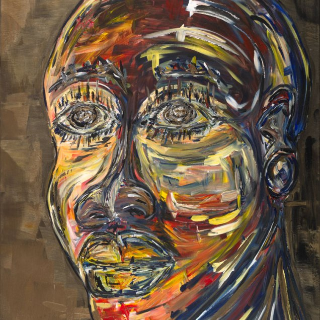 "The Seer, 2014. 30"" x 40"" Acrylic on Canvas Not for sale (Private Collection) - Black History Month Collection"